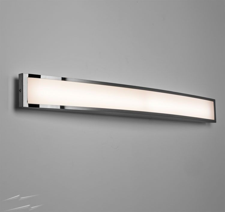 Chord 7.2W 3000K LED Bathroom Wall Light in Polished Chrome, IP44 ...
