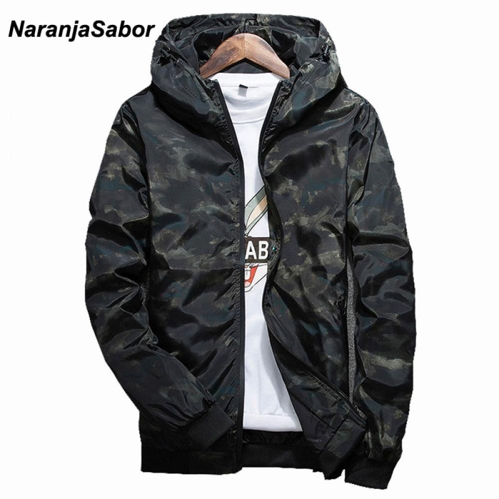 Men/'s Casual Camo Thin Hooded Jacket Wind Breaker Sport Loose Coat Tops Trendcy