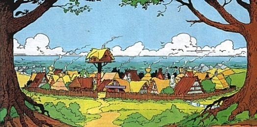 The Gaulish village, Armorica, Gaul, as drawn by Albert Uderzo. I imagine the meals would be sensational.