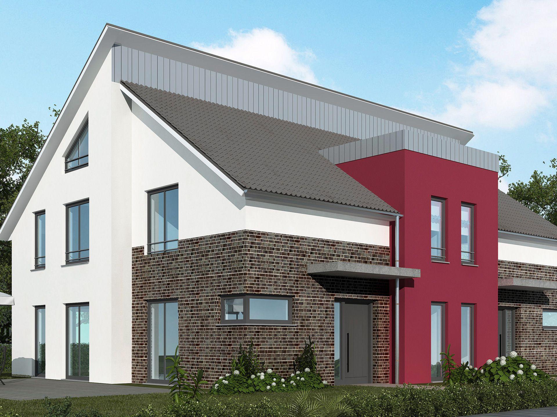 doppelhaus 120 m doppelhaus von baudirekt individuell planbares massivhaus mit pultdach. Black Bedroom Furniture Sets. Home Design Ideas