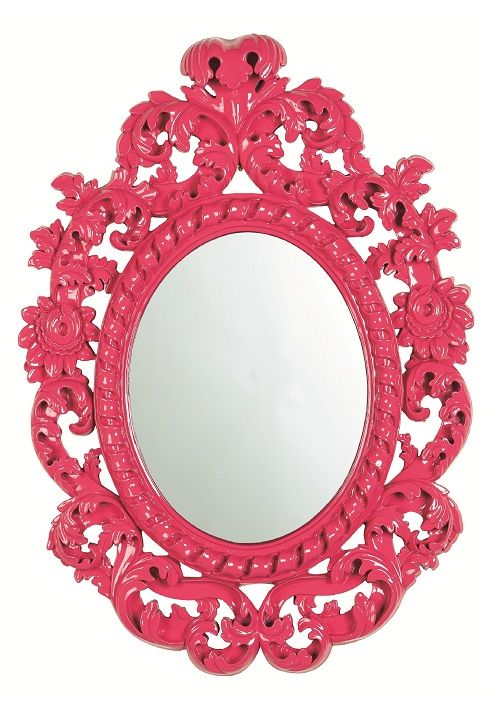 Baroque Mirror, in High Gloss Pink Lacquer, sharing luxury designer ...