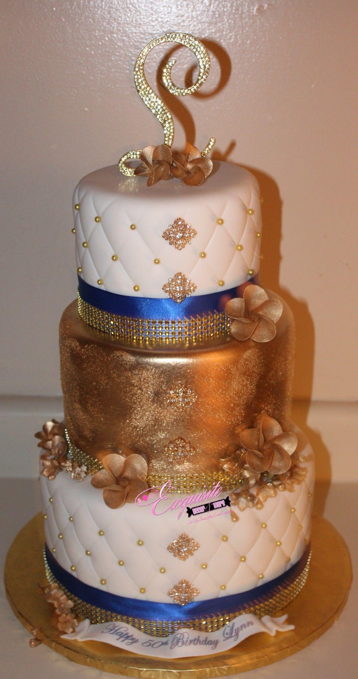 Elegant 50th Birthday Cake Exquisite Dcor More Events Cakes