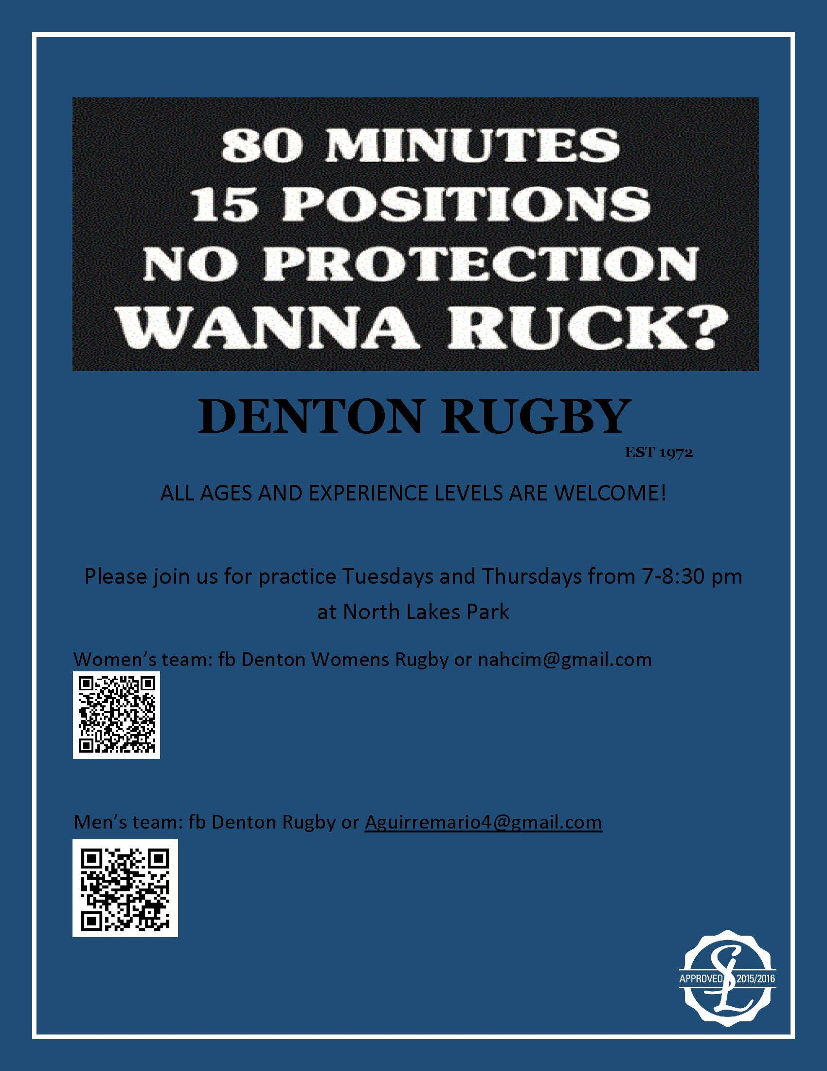 Blue apron recruiting - Rugby Recruitment Flyer