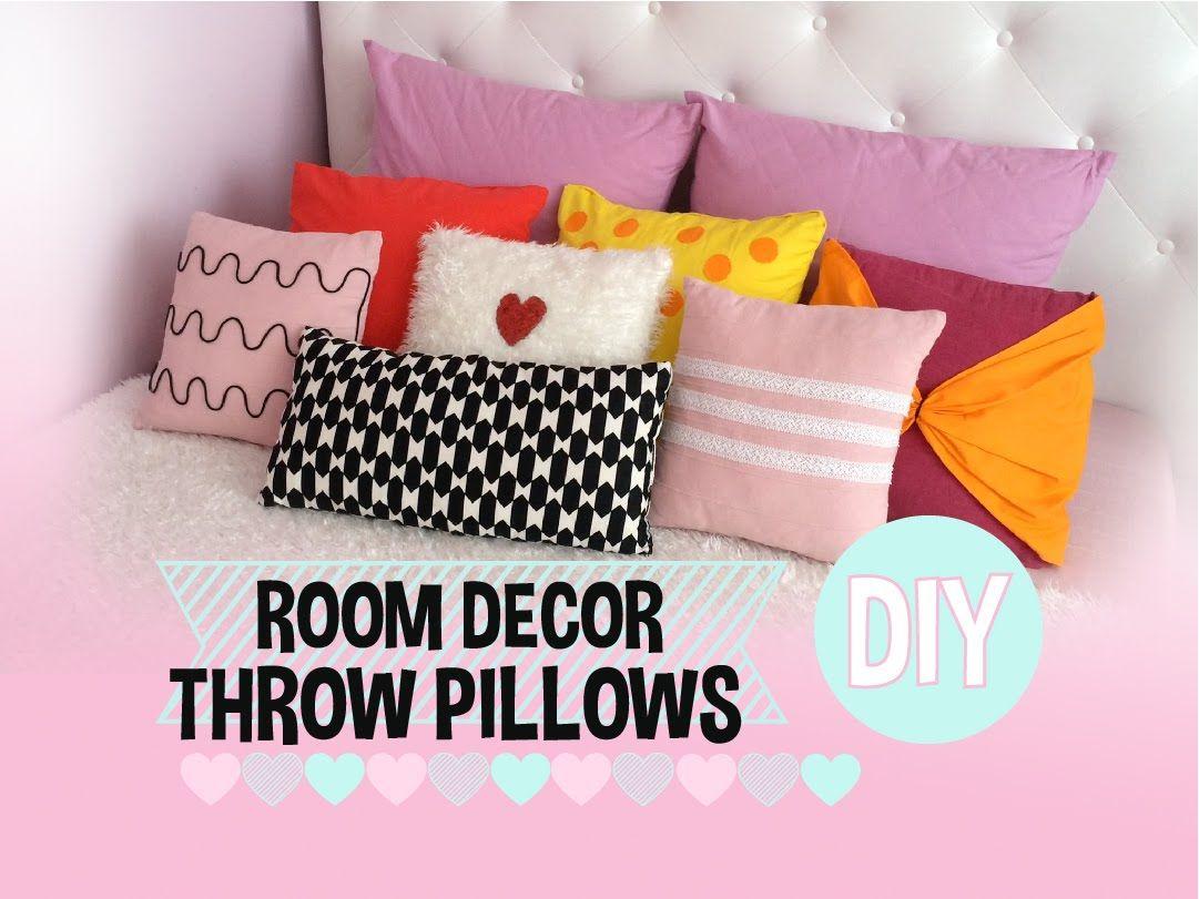 ROOM DECOR | No Sew THROW PILLOW covers DIY - 5 Styles - YouTube & ROOM DECOR | No Sew THROW PILLOW covers DIY - 5 Styles - YouTube ... pillowsntoast.com