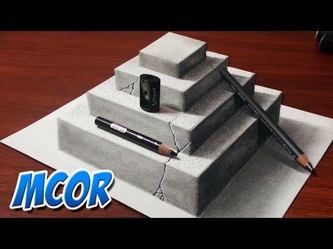 Como dibujar un hoyo realista dibujo 3d youtube how for Dibujar un mueble en 3d