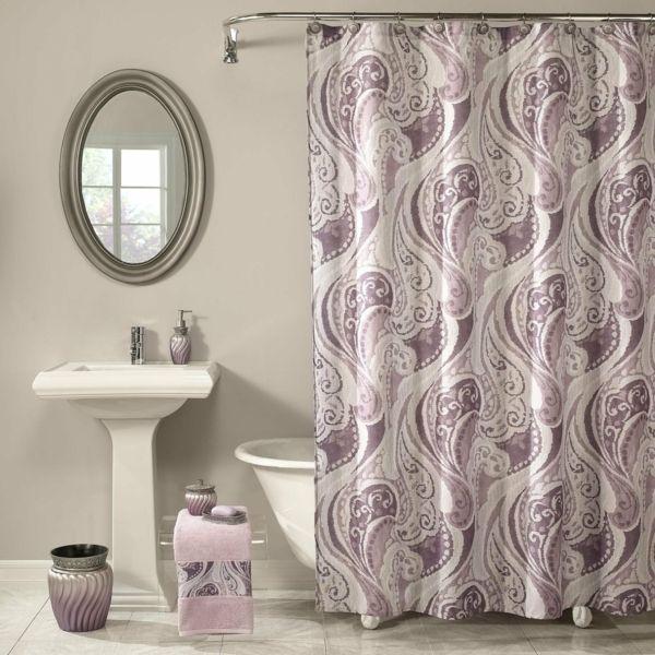 Badezimmer Vorhang - schöne Muster und Farben im Bad - http - muster badezimmer