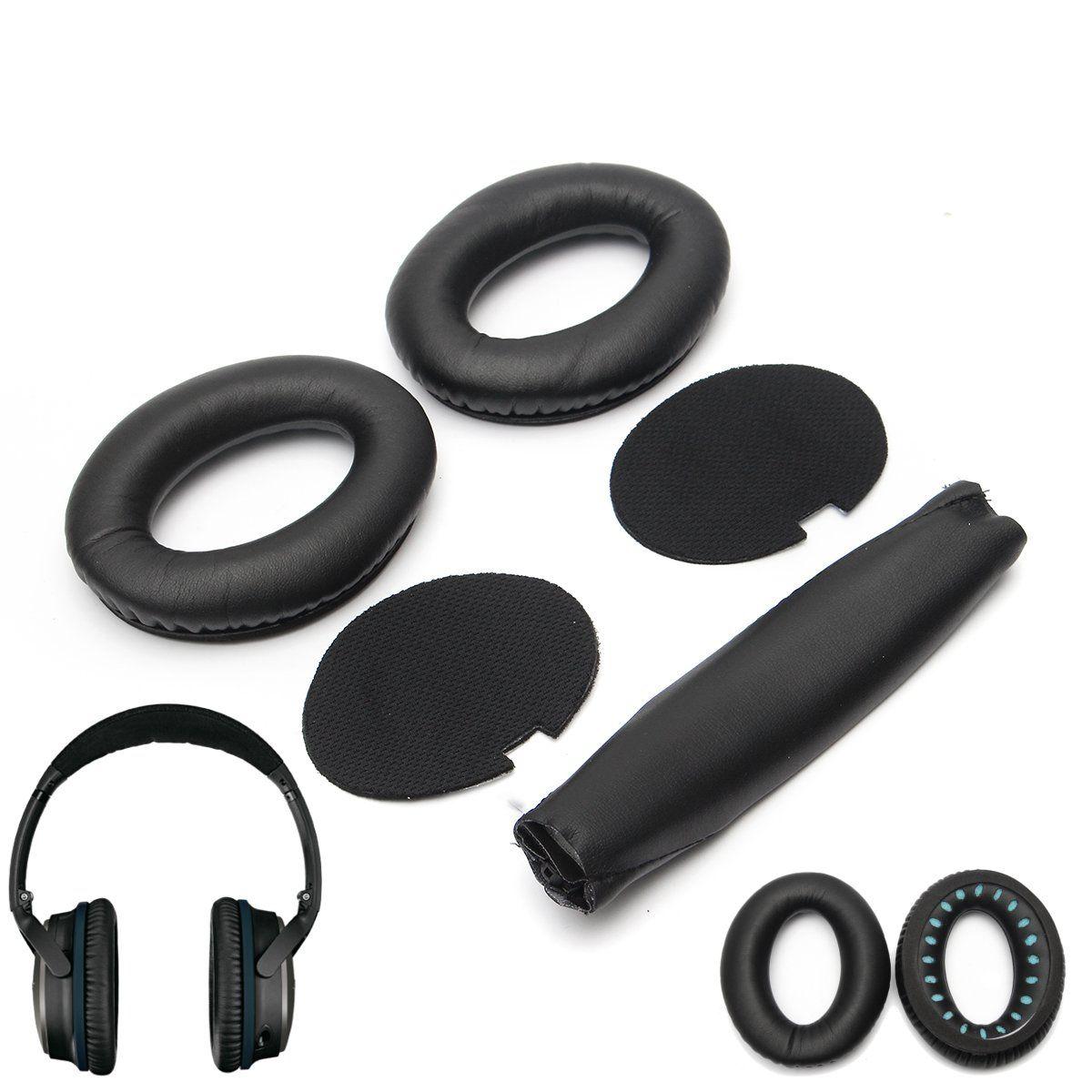 Replacement Ear Pads Headband Cushion for Bose QuietComfort QC15 QC2 Headphones