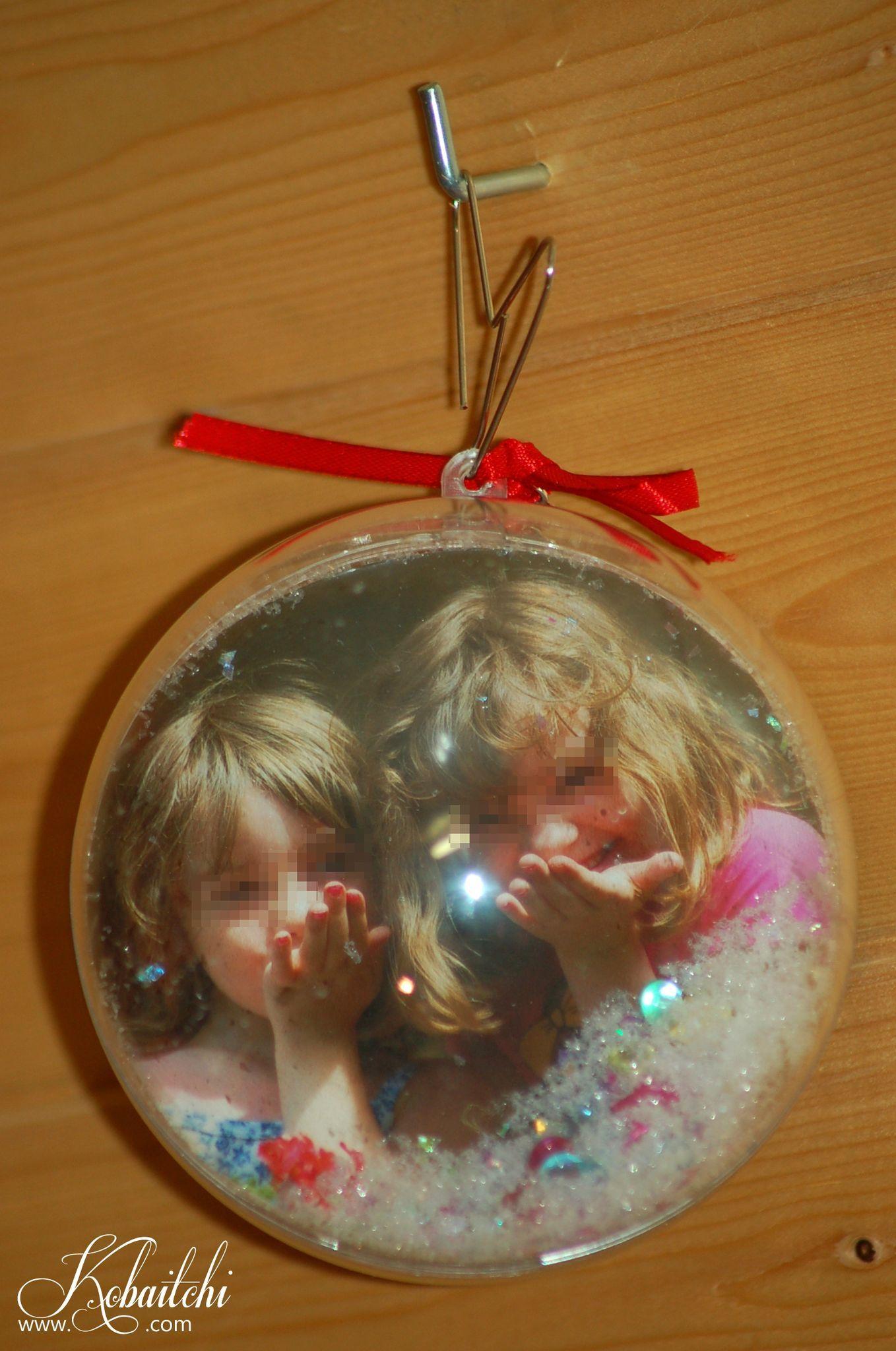 Vos boules de Noël transparentes avec photos [DIY | Boule de noel