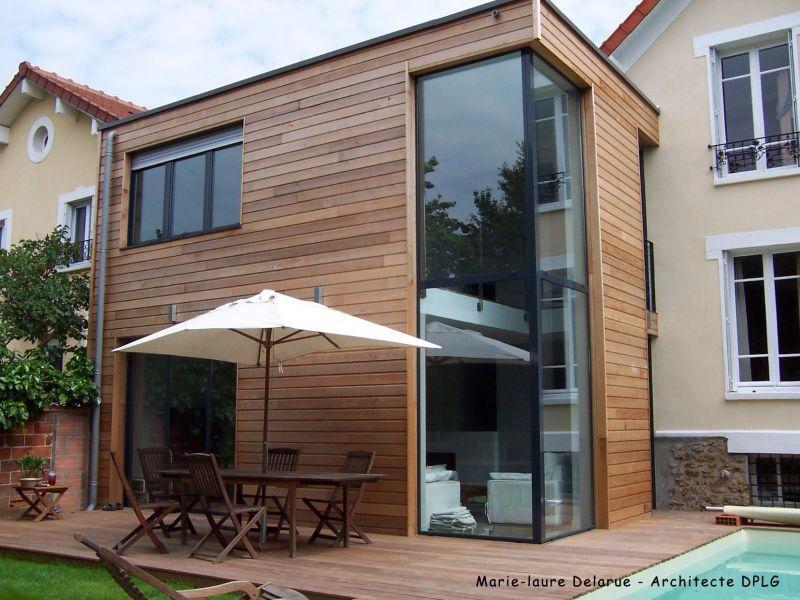 Extension maison deux étages en bois ogrod zimowy Pinterest