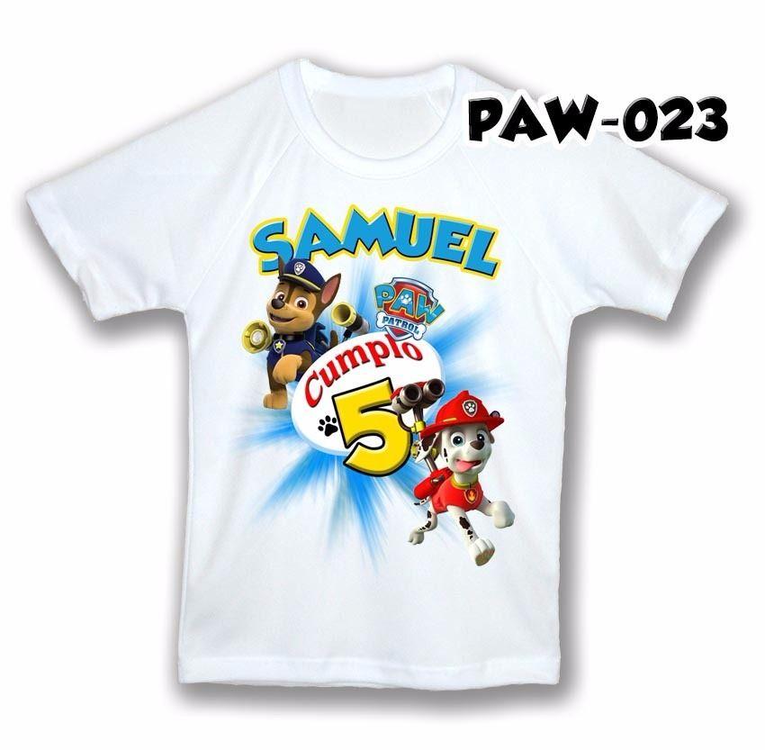 ba9fb6f7a paw patrol franela camisa personalizada cumpleaños cotillon ...
