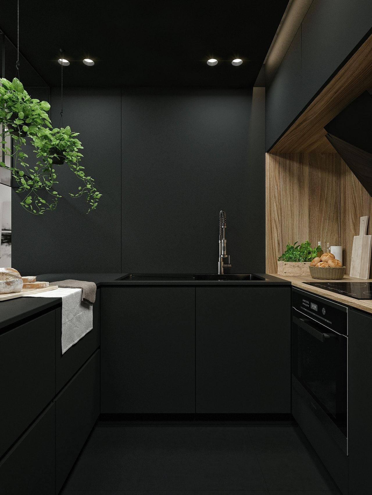 Black kitchen by id white architecture beast black and white interior design ideas