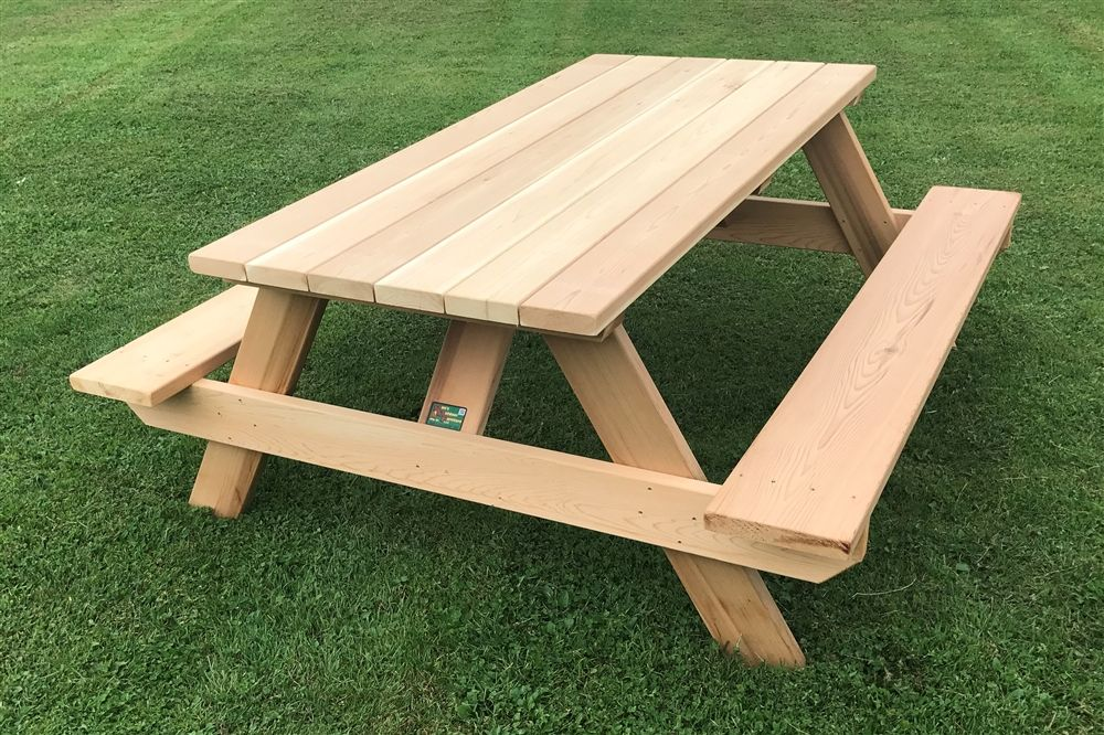 Classic 6 Heavy Duty Wooden Picnic Table For Home Or Business Picnic Table Wooden Picnic Tables Picnic Table Bench