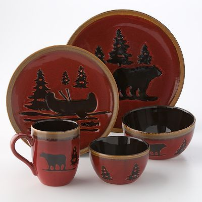 Home Studio Woodland Dinnerware Red 4 89 9 09