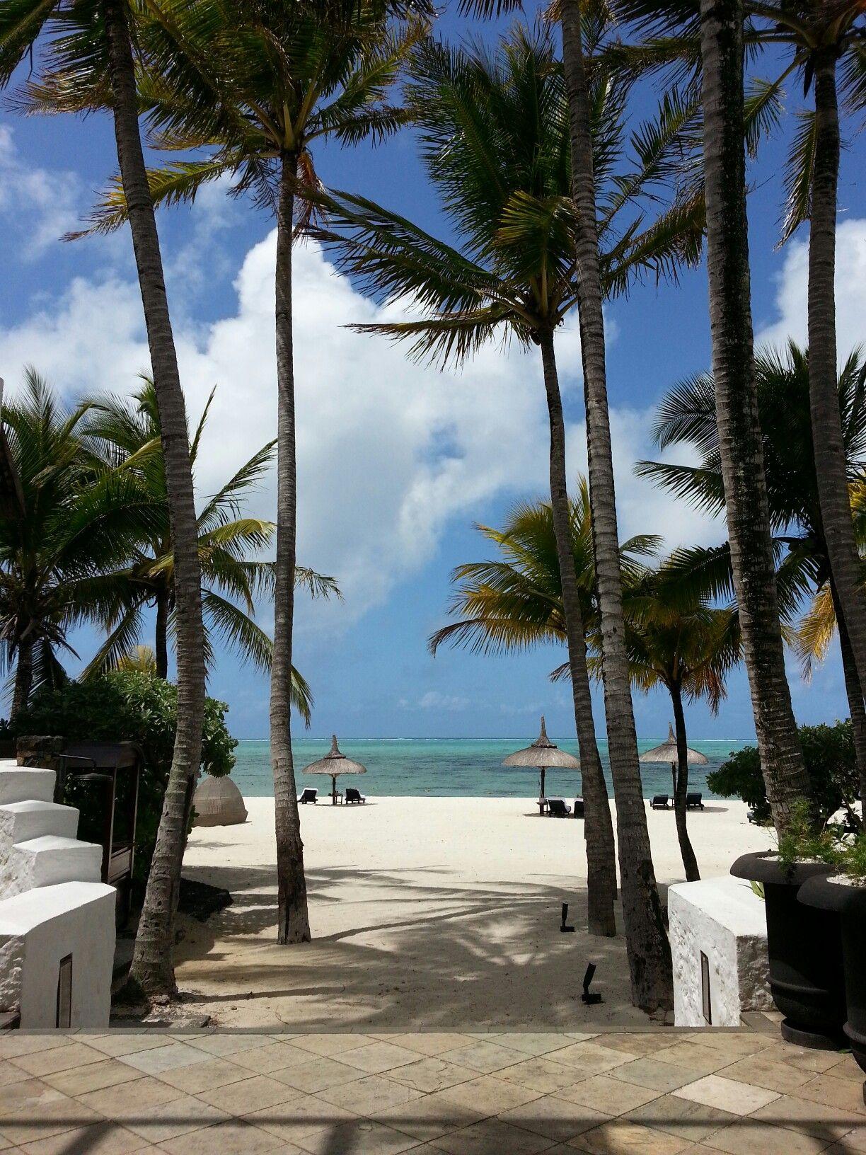 Epic beach entry @ShangiLaHotels #beach #travel #mauritius