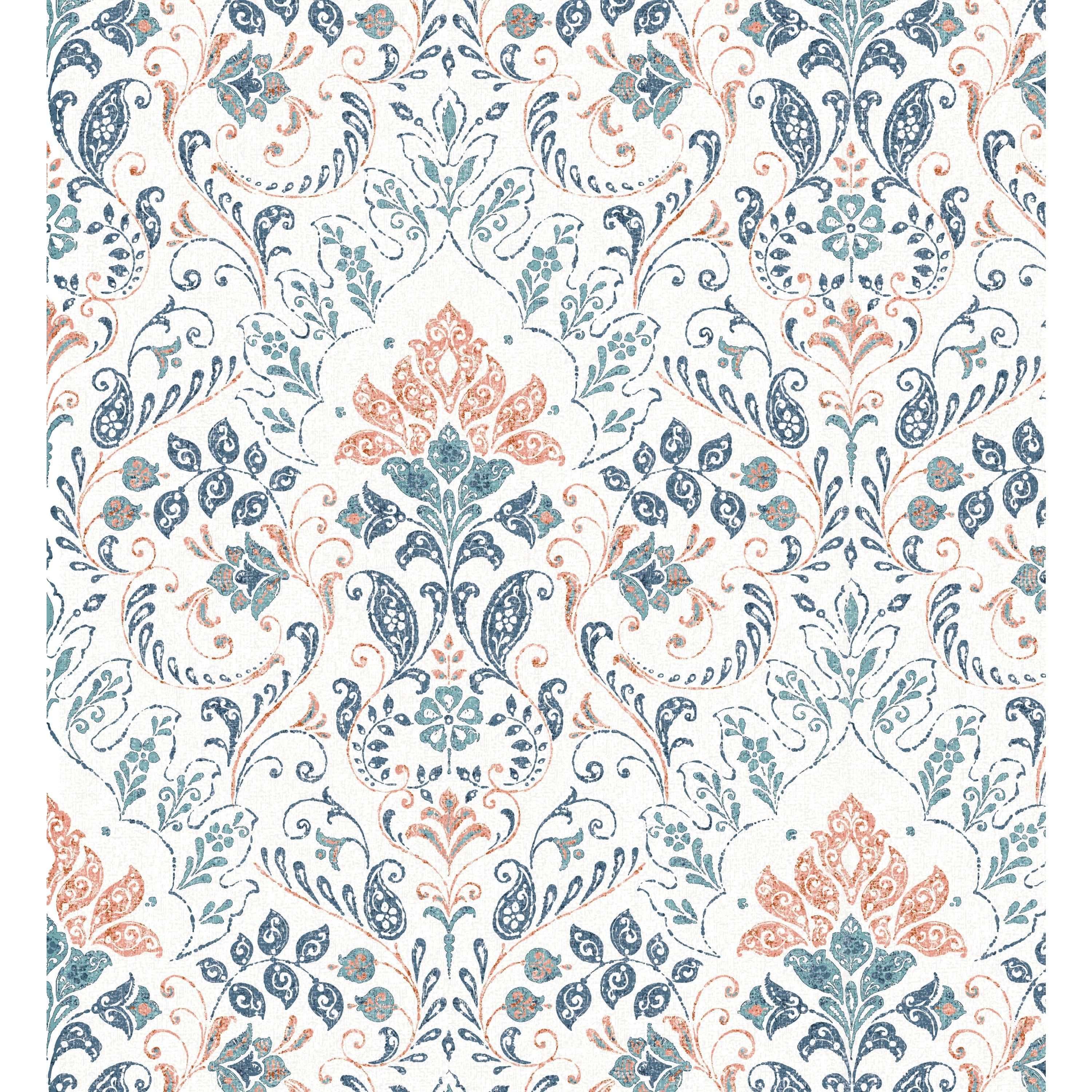 Roommates Persian Damask Peel And Stick Wallpaper Walmart Com Peel And Stick Wallpaper Fine Persian Rugs Removable Wallpaper