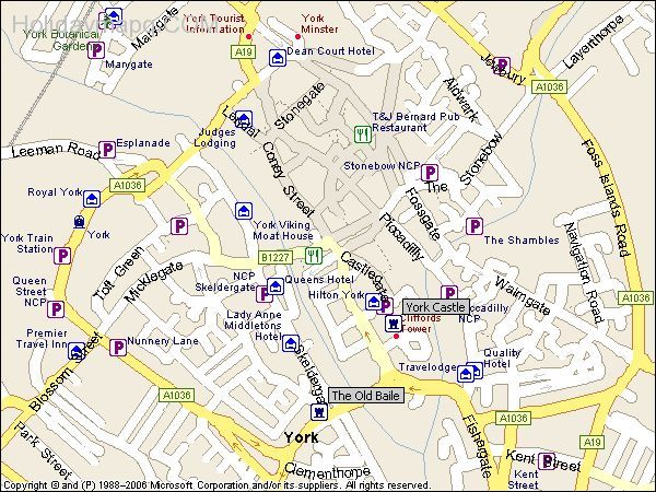 York City Centre Map nice Map of york city centre | Holidaymapq in 2019 | York city