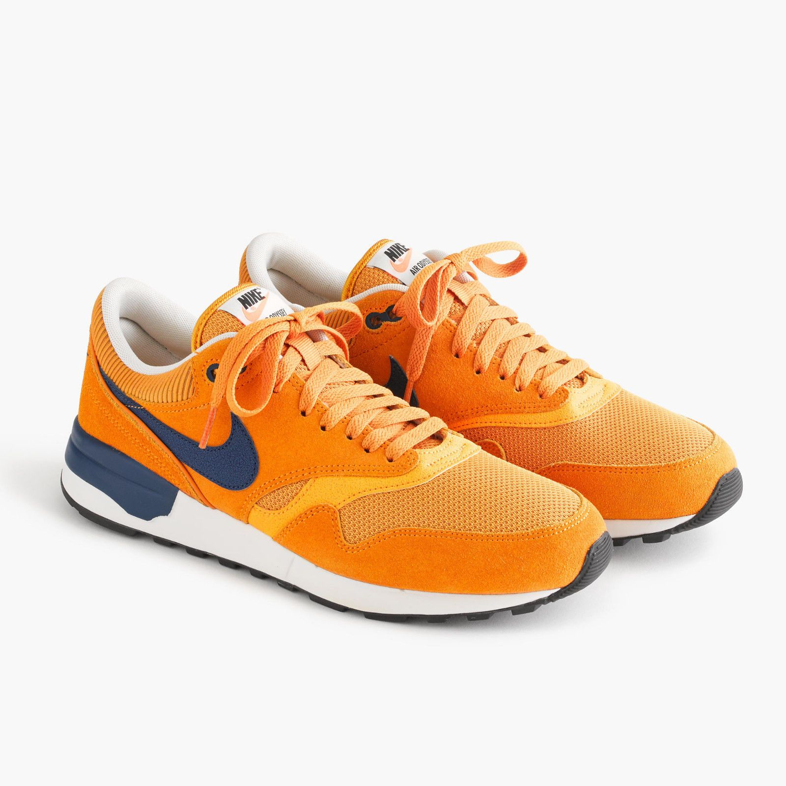 separation shoes c9efc 7d958 NEW J.CREW NIKE AIR ODYSSEY SNEAKERS IN GOLD MAIZE YELLOW NAVY BLUE MENS  SIZE 7
