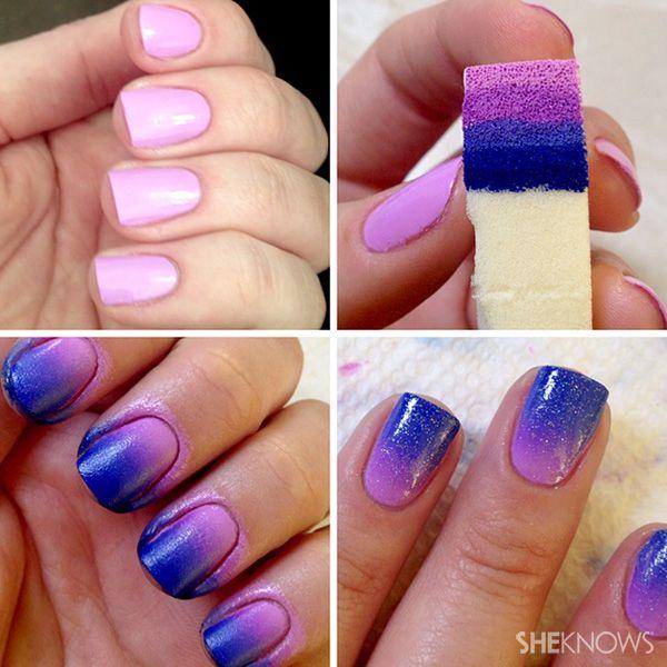 técnica difuminado 4 colores   Arte De Uñas   Pinterest   Difuminar ...