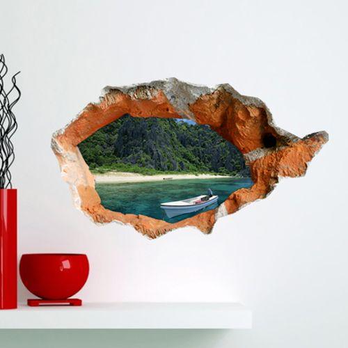 schön günstig 3D Wandtattoo Strand PVC Fototapete großer Wahl kaufen