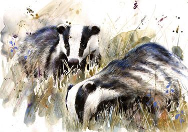 Saatchi Online Artist Lucy Newton; Mixed Media, Badgers #art