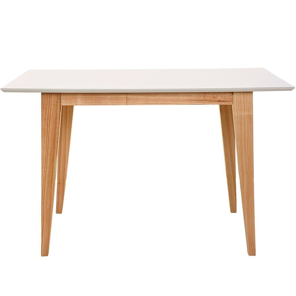 Mesa comedor madera escand narvik 1 20x70 tapa blanca for Mesa comedor ovalada blanca