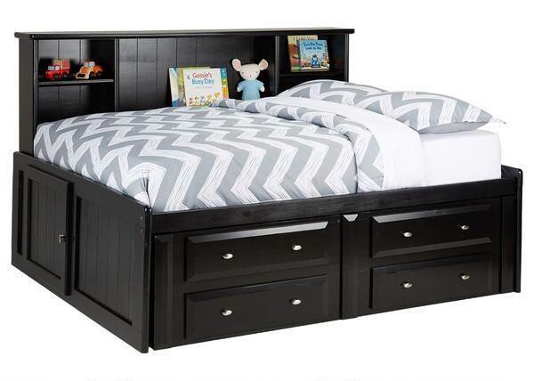 Catalina Full Roomsaver Bed Black Black Was 999 96 Sale 79 Black Bedding Bed With Drawers Underneath Bed Without Headboard
