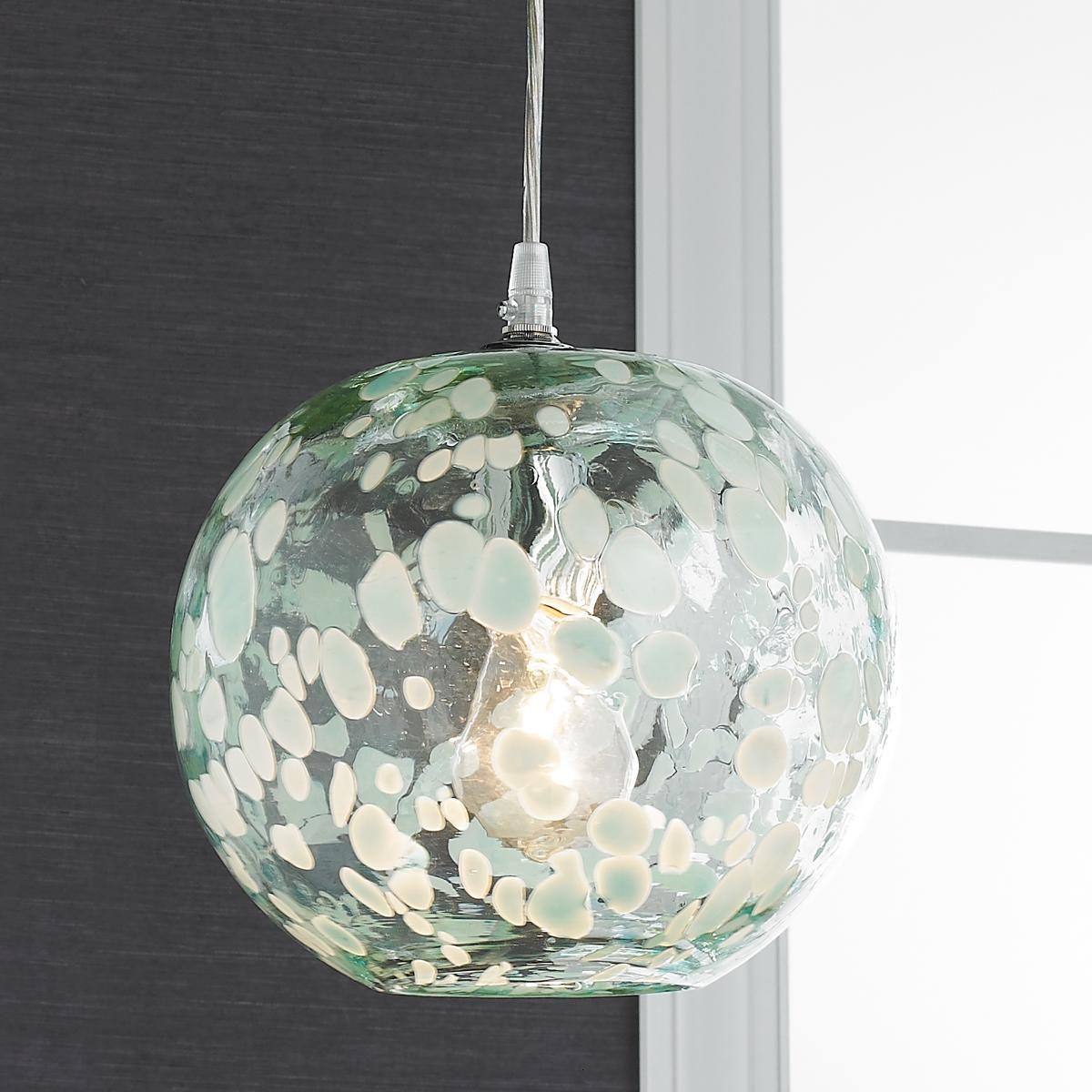 Speckled Hand Blown Glass Pendant Blown Glass Pendant Light