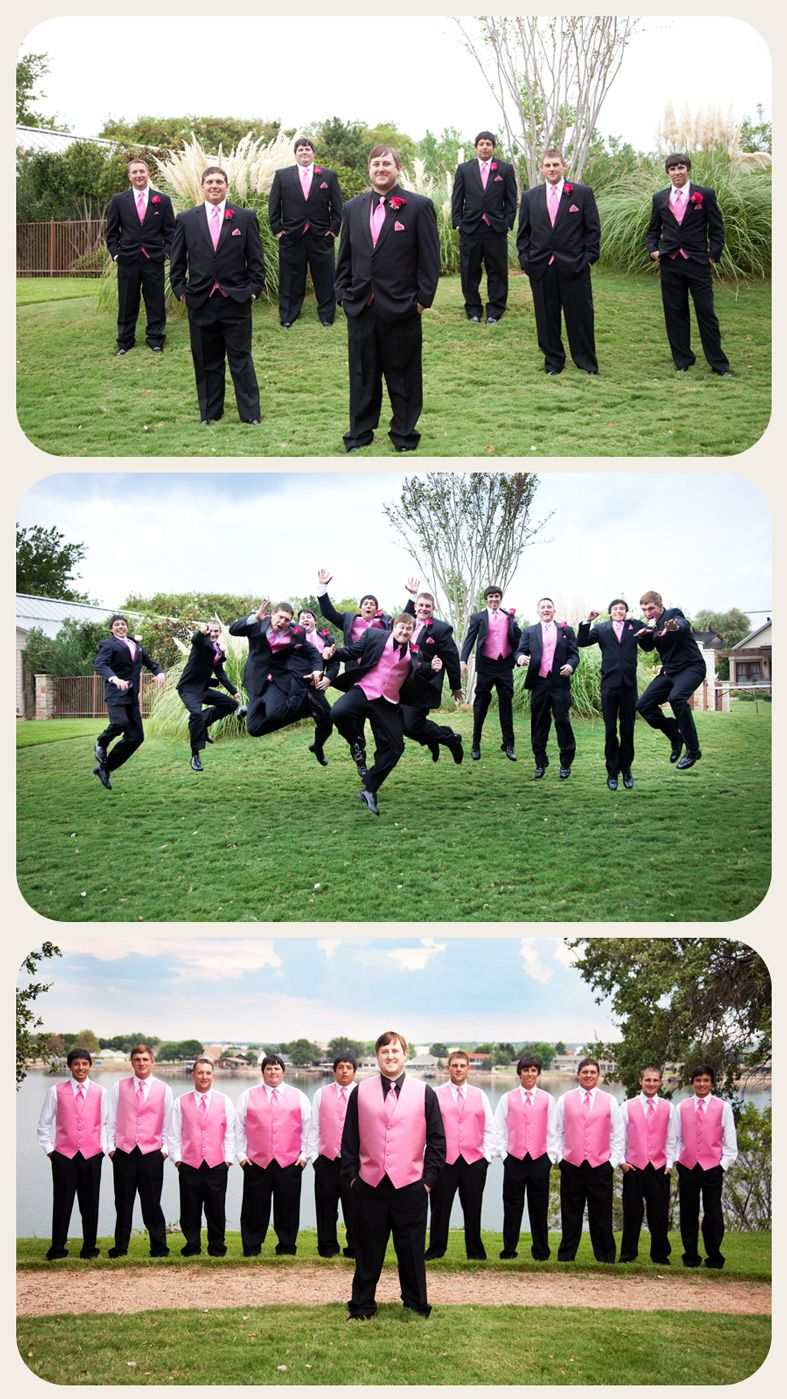 Zebra wedding decorations  guys jumping love it  wedding photos  Pinterest  Nice Weddings