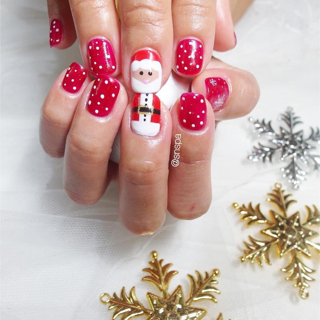 santa claus belt and face nails
