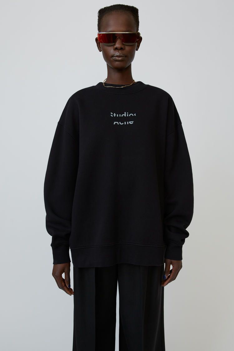 Acne Studios Black Sweatshirt Is Crafted From Cotton Fleece With An Oversized Fit And Accented With A Brok Black Sweatshirts Sweatshirts Long Sleeve Tshirt Men [ 1125 x 750 Pixel ]