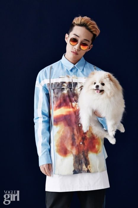 Zion.T, Stephanie Lee & Eastern Sidekick's Oh Joo Hwan for   Vogue Girl  April 2015. Photographed by Kang Kyung Suk