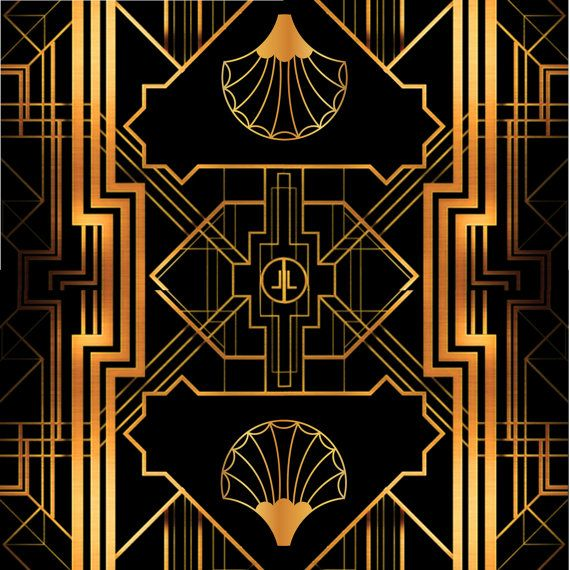 Great Gatsby Art Deco Backdrop for Photos, Wall Decor, Party Sign, Party Decoration, 1920's, 20 ...