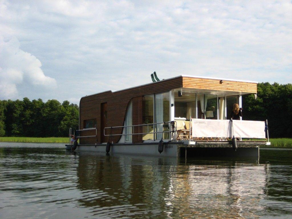 Berlin Outskirts Brandenburg House Boat Rental License Free Houseboat Manhattan Loftboot More House Than Boat Schwimmende Hauser Hausboot Wasserhaus