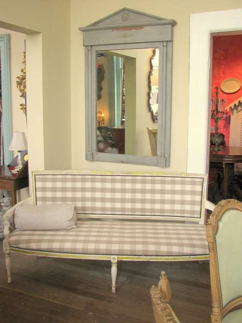 French Style For Homes. Love This Buffalo Check Fabric In The Settee! Casual  Elegance