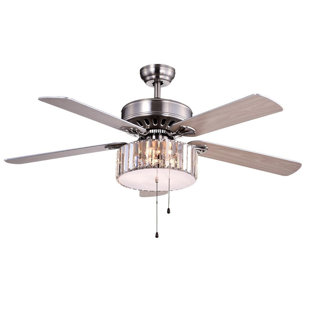 Warehouse Of Tiffany Kimalex 52 In Nickel Ceiling Fan With Light Kit Ceiling Fan With Light Warehouse Of Tiffany Ceiling Fan Chandelier