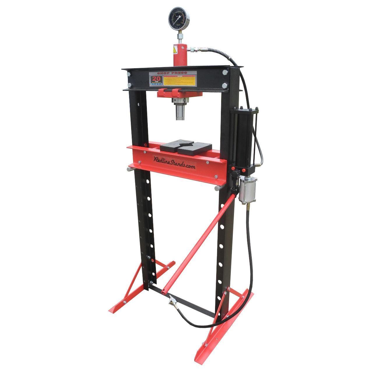 Redline 20 Ton Air Hydraulic Shop Press Free Shipping Hydraulic Shop Press Shop Press Hydraulic