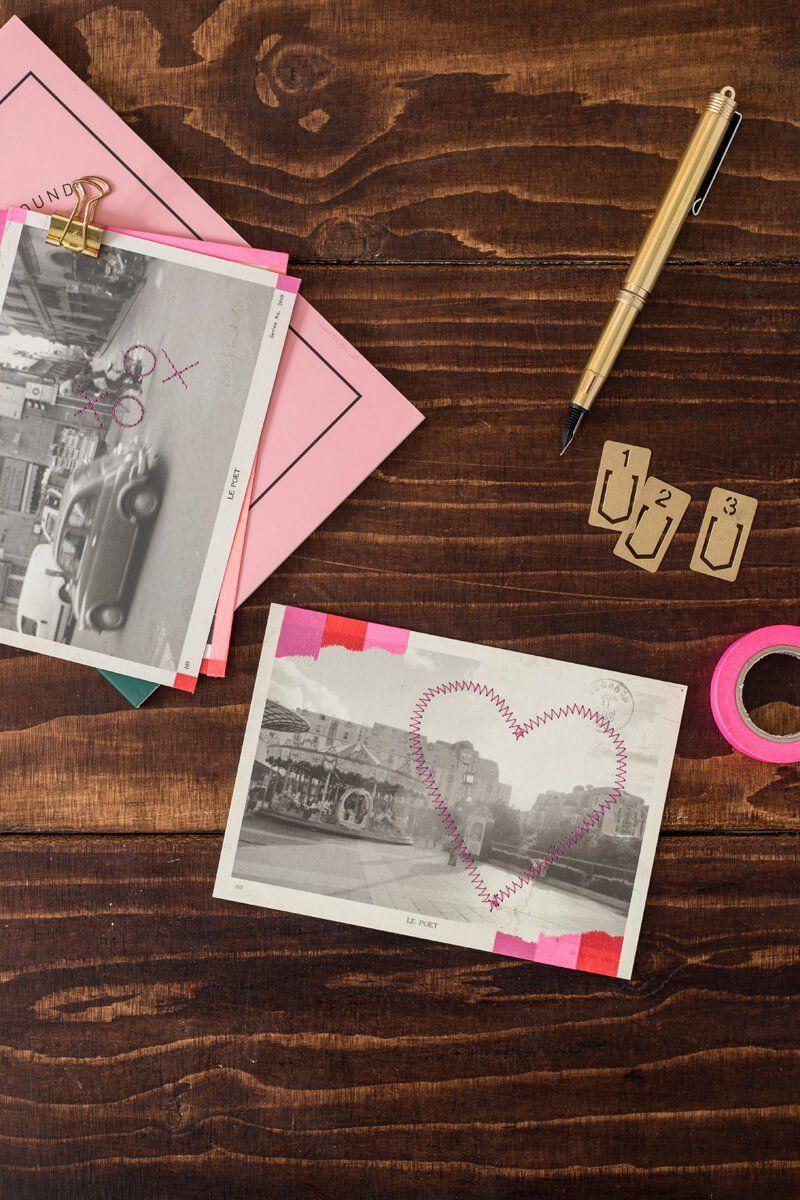 Valentines washi tape postcards washi tape washi and stitch