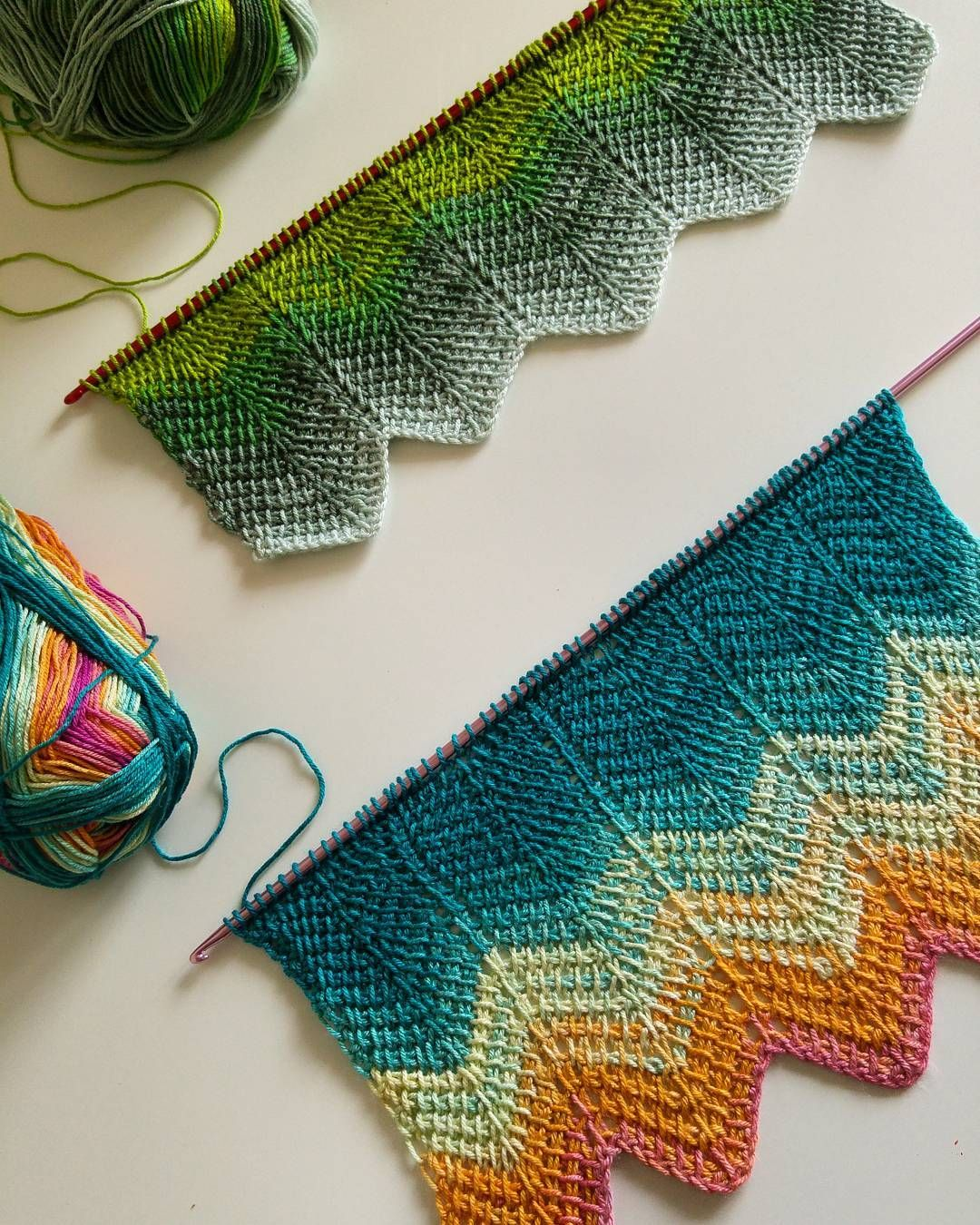 Tunus işi şal yapılışı | Ripple crochet patterns, Afghans and Blanket