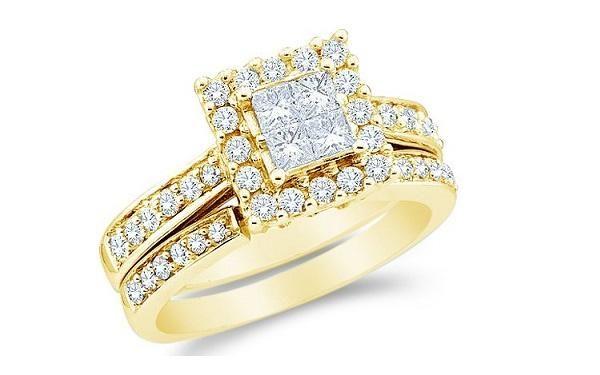 engagement rings yellow gold white gold prongs 20 - Wedding Rings At Walmart