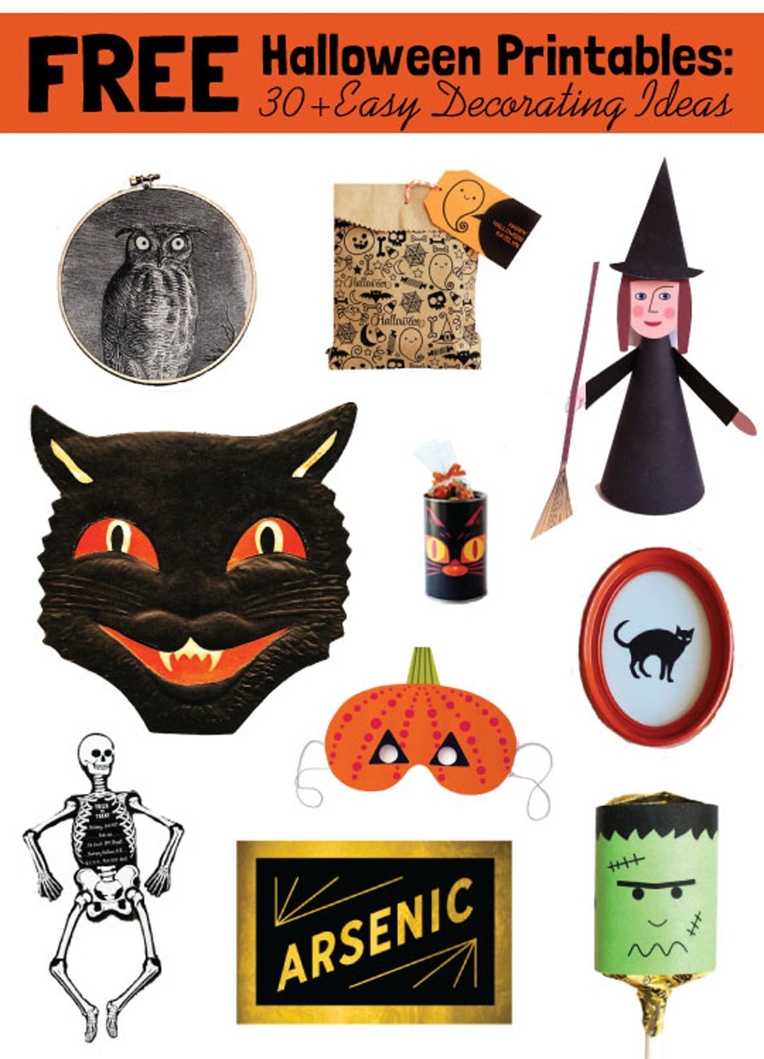 Free Halloween Printables 30 Easy Decoration Ideas from