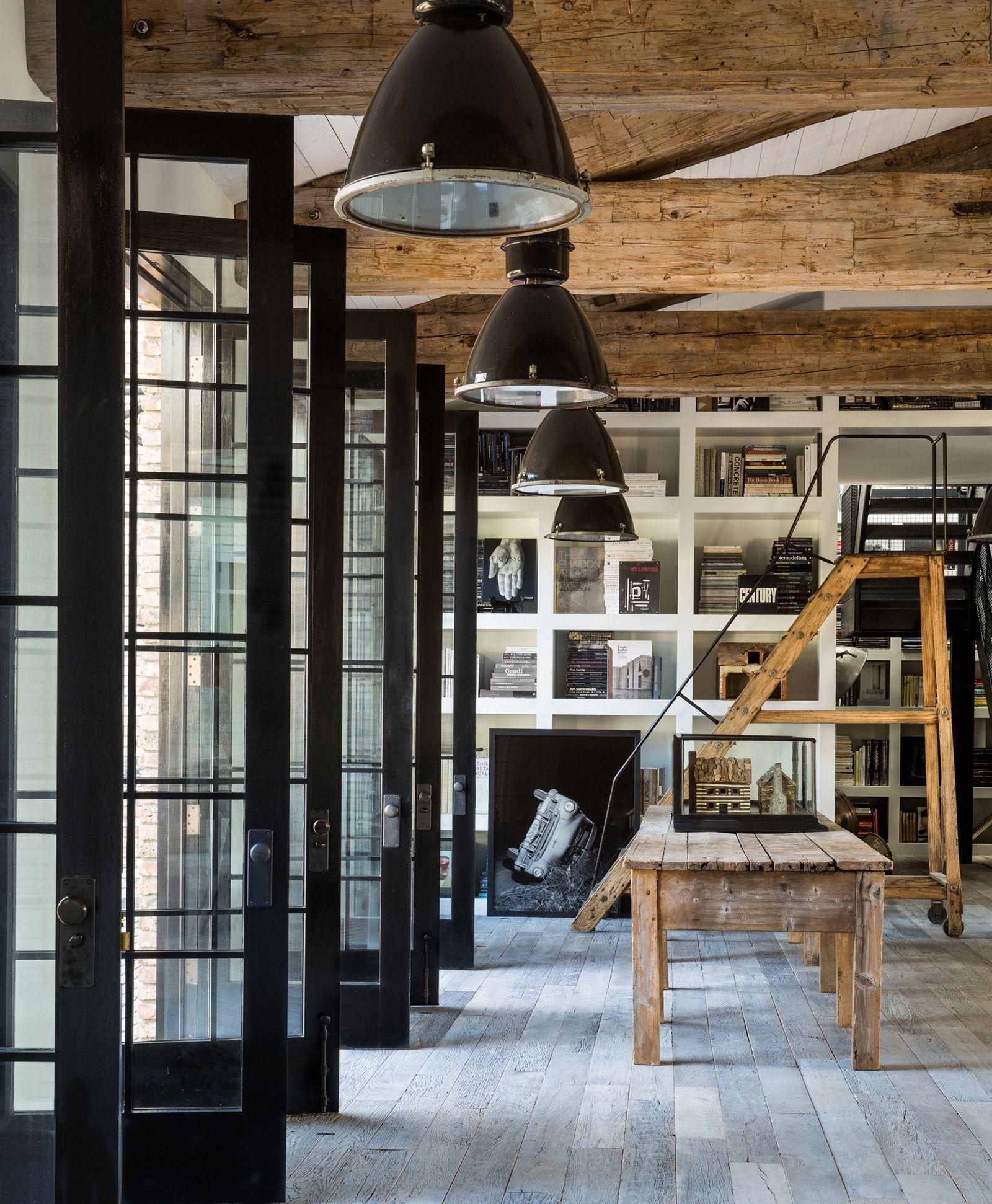 The interior of diane keatonus rustic home is the stuff of pinterest