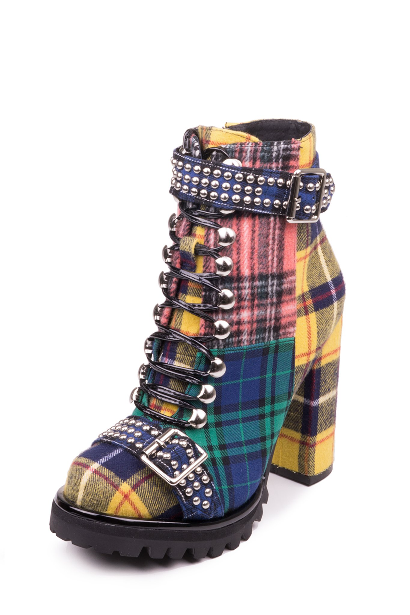 ecc0721964c2 Lace-up lug sole heeled bootie. - Fits true to size - Measurements taken  from size 6 - 4.25