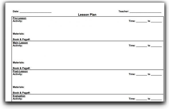 madeline hunter lesson plan format printable - Google Search - daily lesson plan template word