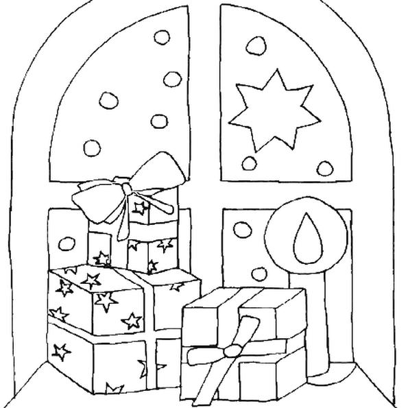 Sur Le Dessin Les Cadeaux De Noel Ont Ete Places Sur Le Rebord De La