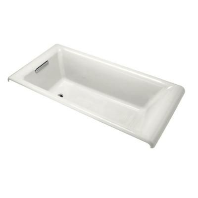 Kohler Parity 5 5 Ft Reversible Drain Bathtub In White K 896 0 Drop In Bathtub Bathtub Soaking Tub
