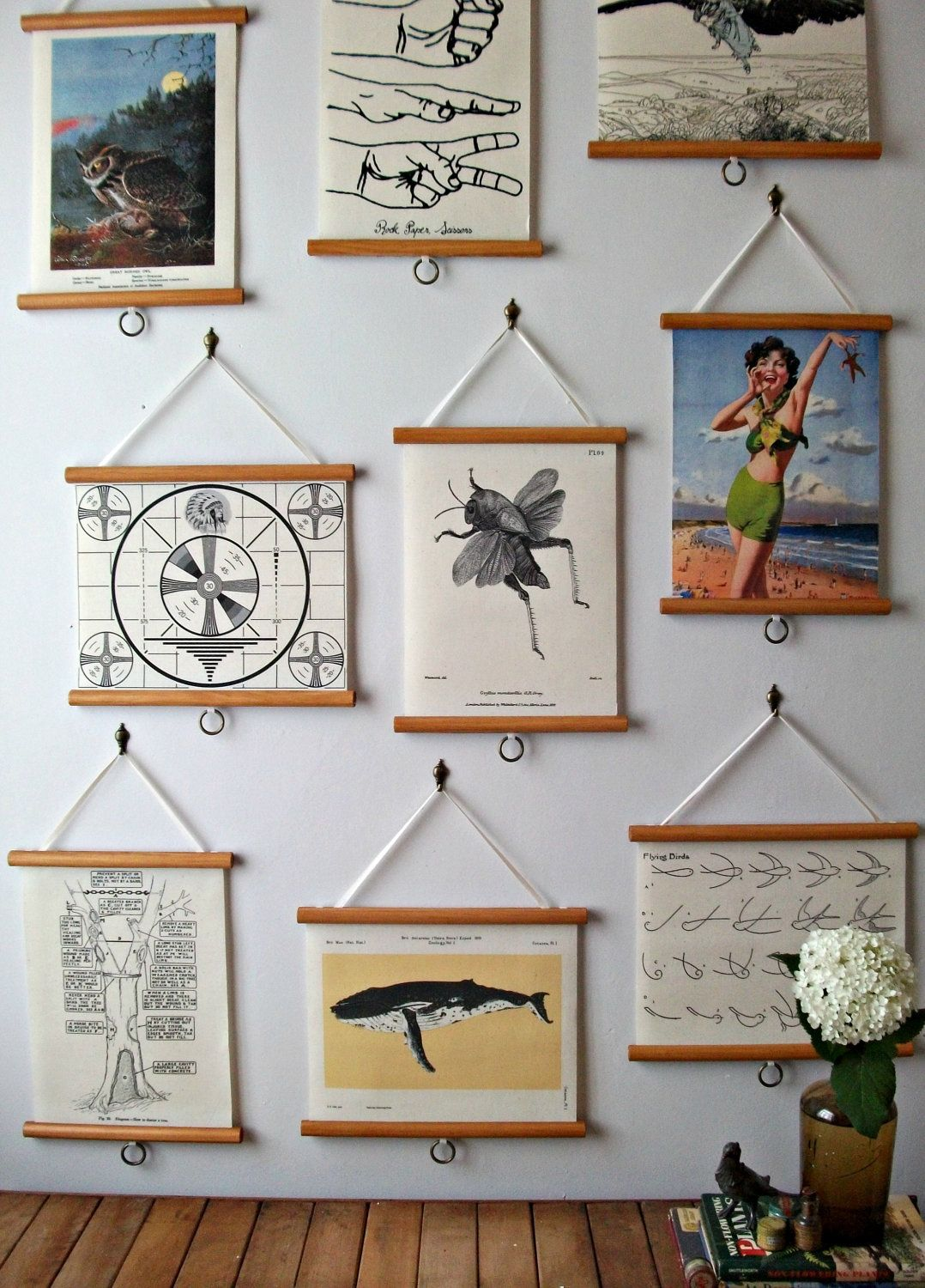 Pictures wall how on to hang