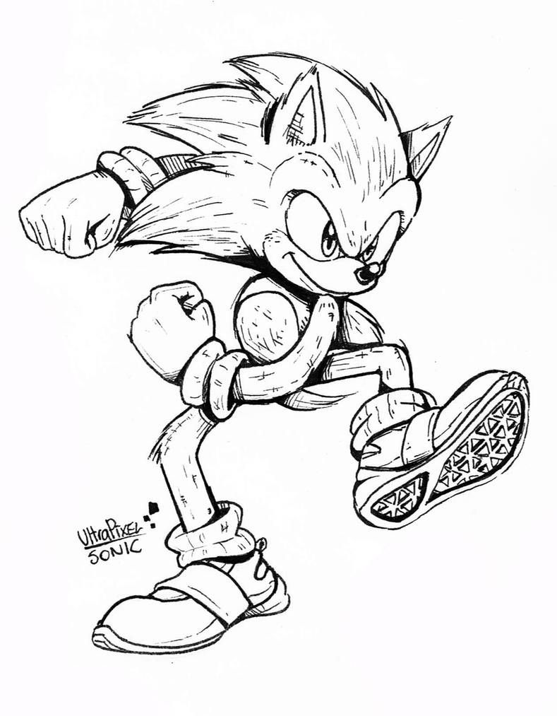 Sonic Movie Traditional By Ultrapixelsonic On Deviantart Super Mario Coloring Pages Sonic Art Anime Poses