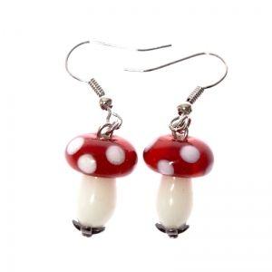 Edibly cute mushroom earrings