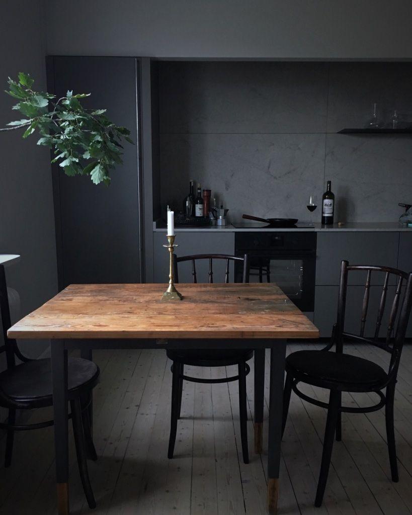 Le noir dans la cuisine cuest tendance black kitchens kitchens