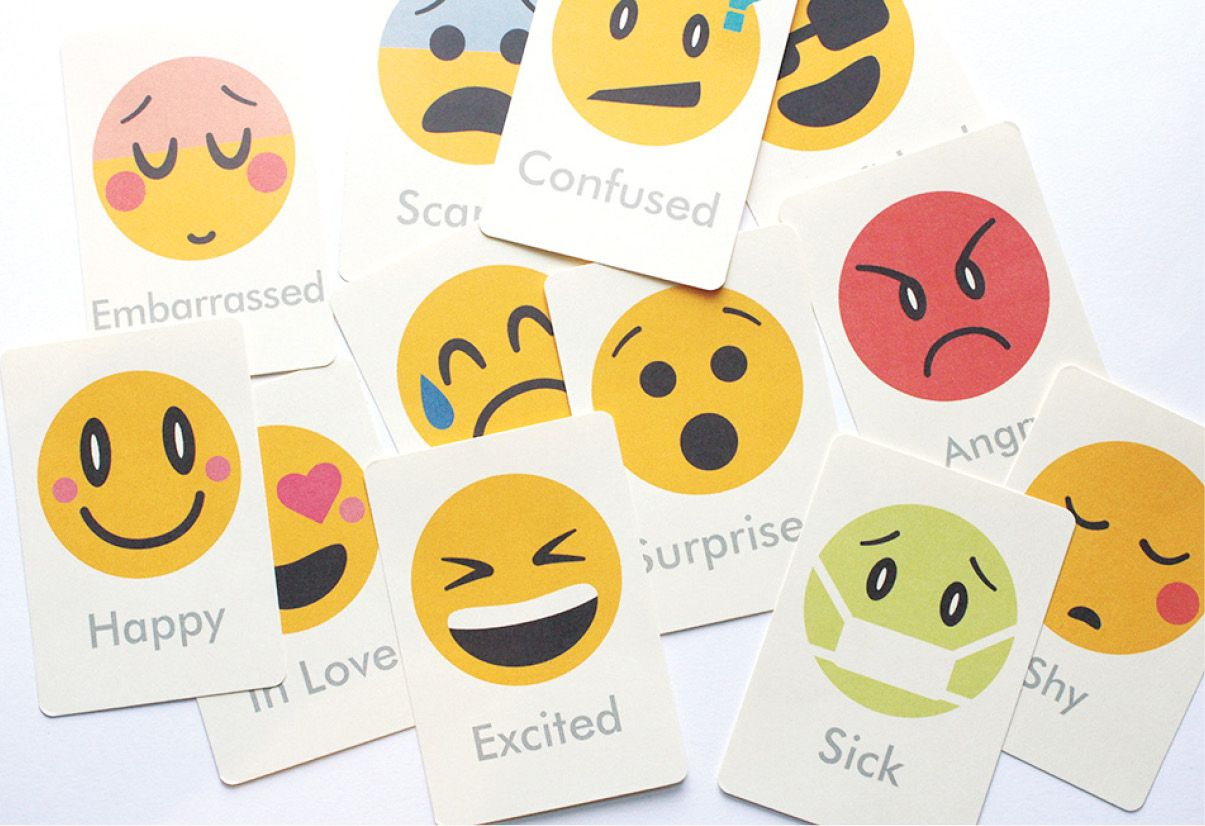 Massif image in free printable emotions flashcards